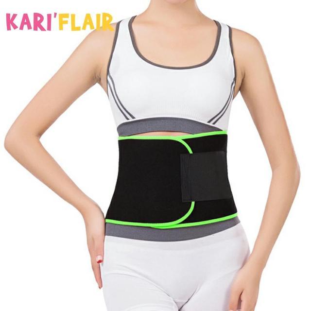 Sweat Wrap Slim Body Lumbar Support Belt Waist Trimmer Belt for Women Weight Loss Abdominal Trainer Slimming Body Shaper