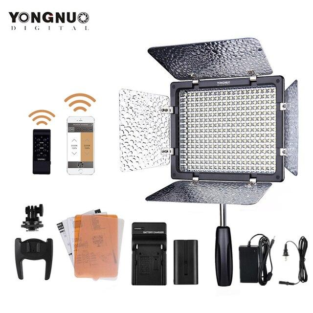 YONGNUO YN300 III 3200 5500K ไฟ LED กล้องแสงสำหรับงานแต่งงาน YN300III LED แผงแบตเตอรี่อะแดปเตอร์ AC