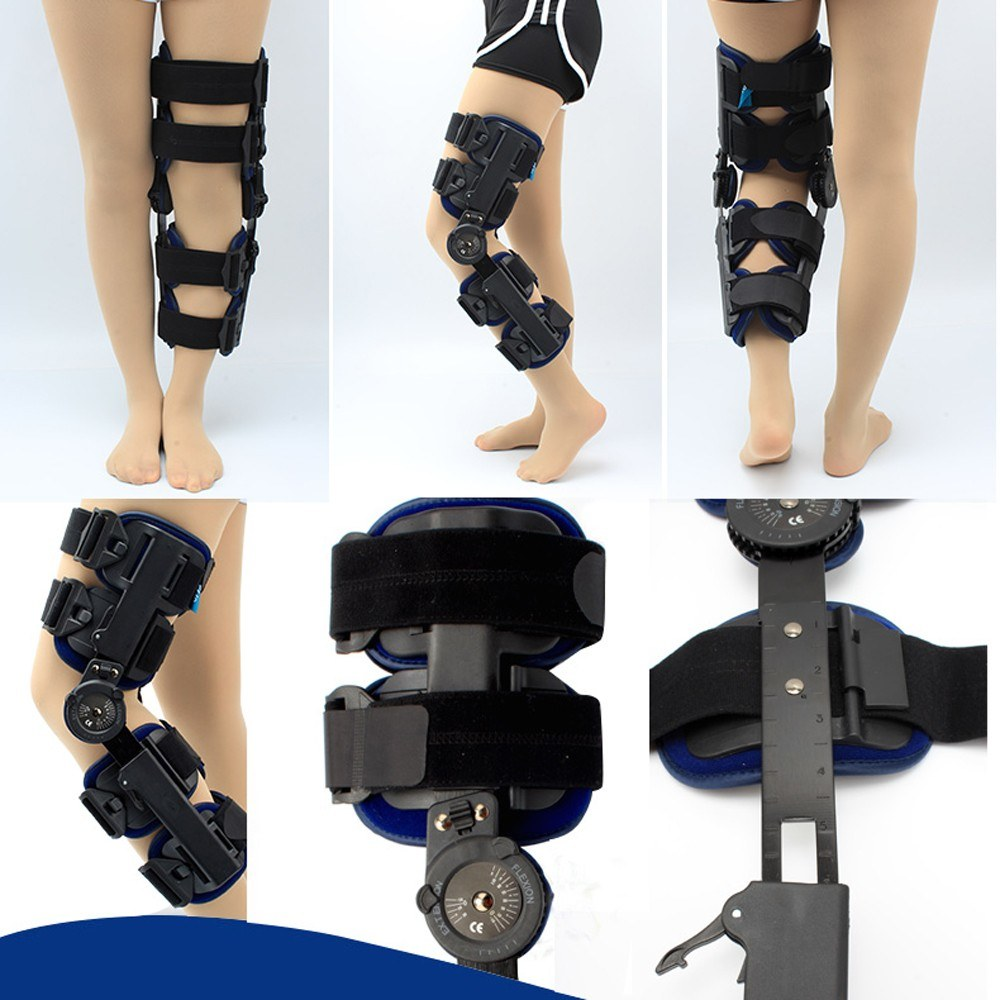 Adjustable Joint <font><b>Injury</b></font> Splint <font><b>Sport</b></font> Knee Pads Brace Support Bone Care Knee Brace Support Pain Hinged Brace Knee Support image