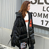 2021 New Plus size loose Glossy Winter jacket women 90% White Duck Down coat Hooded Female Thick warm Windproof snow outwear Y21 3