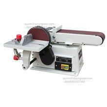 Machine de ponçage à bande Abrasive de bureau 4x6 pouces, Machine domestique horizontale et verticale, ponceuse à disque