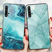 Marmur Capa Honor 9A 9C 9S 7A 7C 20 PRO 20S widok 20 10 Lite 10i 9 skrzynki pokrywa telefon dla Huawei Honor 8A 8X 8C 8S 9X Premium Funda tanie tanio CROWNPRO CN (pochodzenie) Aneks Skrzynki PC + TPU Marble Phone Back Case Cover Honor 10 Odporna na brud Anti-knock Colorful Marble Phone Back Cover