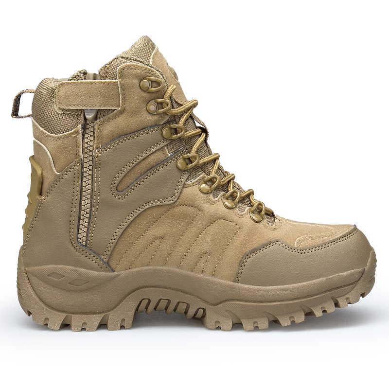 2019 yeni erkek askeri bot su geçirmez taktik bot ordu çöl savaş erkek botları açık yüksek ayak bileği ayakkabı büyük boy 46