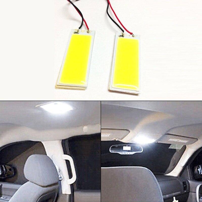 2pcs Super Bright White 190LM Xenon HID White 36 COB LED Dome Map Light Bulb Car Interior Panel Lamp 12V Work Light Hight Qualit