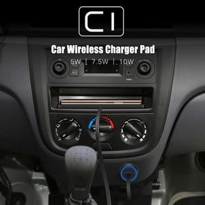 Image 2 - شاحن سيارة Qi لاسلكي حامل مهد من السيليكون 10 واط لهاتف سامسونج S20 S10 لاسلكي سريع الشحن لهاتف آيفون 11 برو Xs Max 8