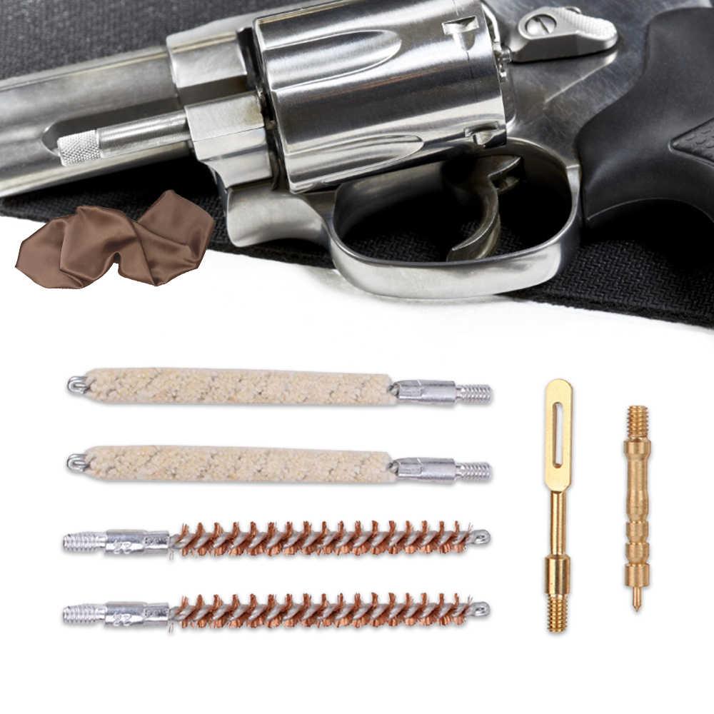 6pcs אקדח ערכת ניקוי אוניברסלי אקדח נקי מברשת כלי יד אקדח מוט מברשת אביזרי עבור. 22cal 5.56mm/. 30cal 7.62mm/. 35cal 9mm