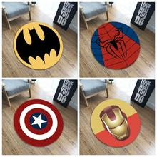 The Avengers Carpet Marvel Plush Batman Spider-man Iron Man Captain America Rug Flannel Gift for Kids Drop Shipping