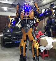 Bumblebee Transformers Armor Costume Cosplay party Clothing large diamond robot real armor wearable armor costumes