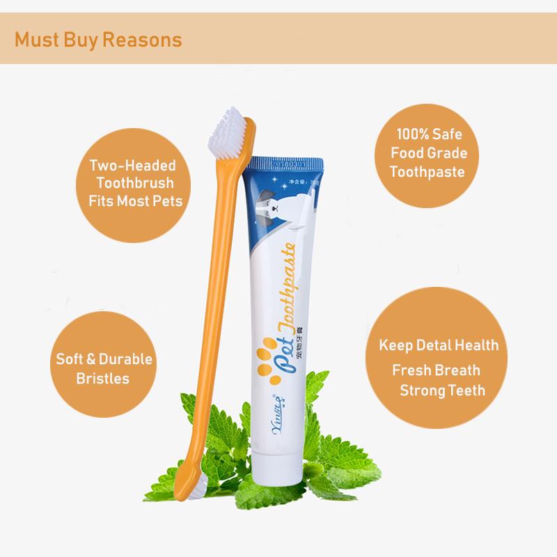 Juego de pasta de dientes y cepillo de dientes para perro 5