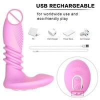 Vibrators Dildo Adult Sex Toy Female Telescopic Penis Masturbation Wireless Remote Control Rabbit Vibrator For Women Massager