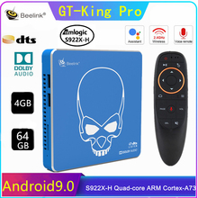 Beelink-Dispositivo de TV inteligente GT King Pro, decodificador con Android 9,0, sonido Hi-Fi sin pérdidas, 4K, Amlogic S922X-H, 4G + 64G, BT4.1, reproductor multimedia de voz