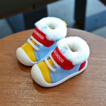 Baby Girls Boys Snow Boots 2020 Winter Infant Toddler Boots Warm Plush Outdoor Soft Bottom Non-Slip Child Kids Cotton Shoes baby girls boys boots 2020 winter infant toddler snow boots warm plush outdoor boots soft bottom non slip kids cotton shoes