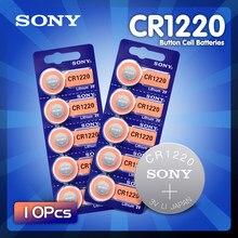 10 шт./лот Sony оригинальный CR1220 кнопочный Аккумулятор для часов автомобильный пульт дистанционного управления cr 1220 ECR1220 GPCR1220 3v литиевые батар...