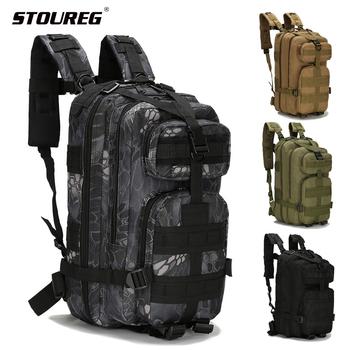 20-30L mężczyźni kobiety taktyczna wojskowa plecak męska Trekking Sport plecaki podróżne torby taktyczne Camping piesze wycieczki torby wspinaczkowe tanie i dobre opinie STOUREG CN (pochodzenie) 81011 Unisex Military Tactical Backpack Miękka osłona NYLON