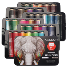Colored Pencils with Metal Box ,180 Colored Pencil Set for Adults Artists,unique oily art special pencil,Christmas birthday gift