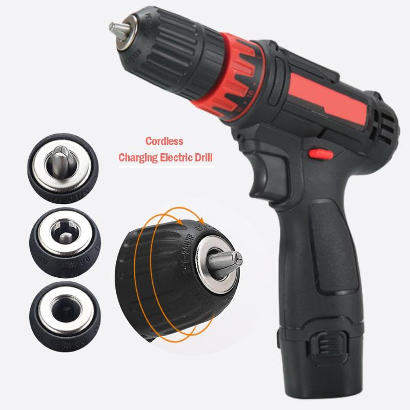12V Home Mini Power Driver Cordless Drill Rechargeable Electric Screwdriver Mini Driver Household Power Tools
