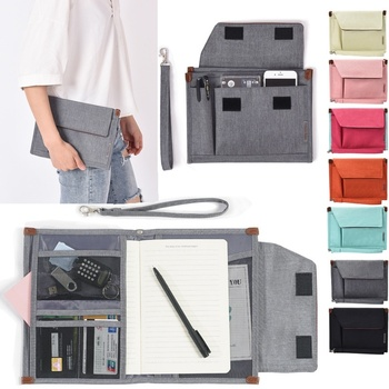 Men Women Briefcase File Storage Bag Multi-layer Conference Folders Portable Multi-function Businiss Document Certificate Bag