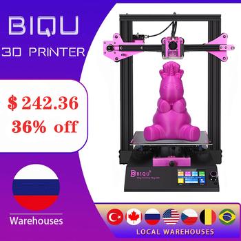 BIQU B1 3D drukarki FDM zmodernizowane DIY TMC2225 3 5 Cal TFT35 V3 0 kolorowy ekran dotykowy metalowa rama Impresora 3d duży Plus rozmiar tanie i dobre opinie CN (pochodzenie) 1 75mm 60mm s 100° 0 2mm 15 languages 100mm s PLA ABS PETG With Cura Repetier-Host Simplify3D 100 - 120V 200 - 240V 50 60 HZ
