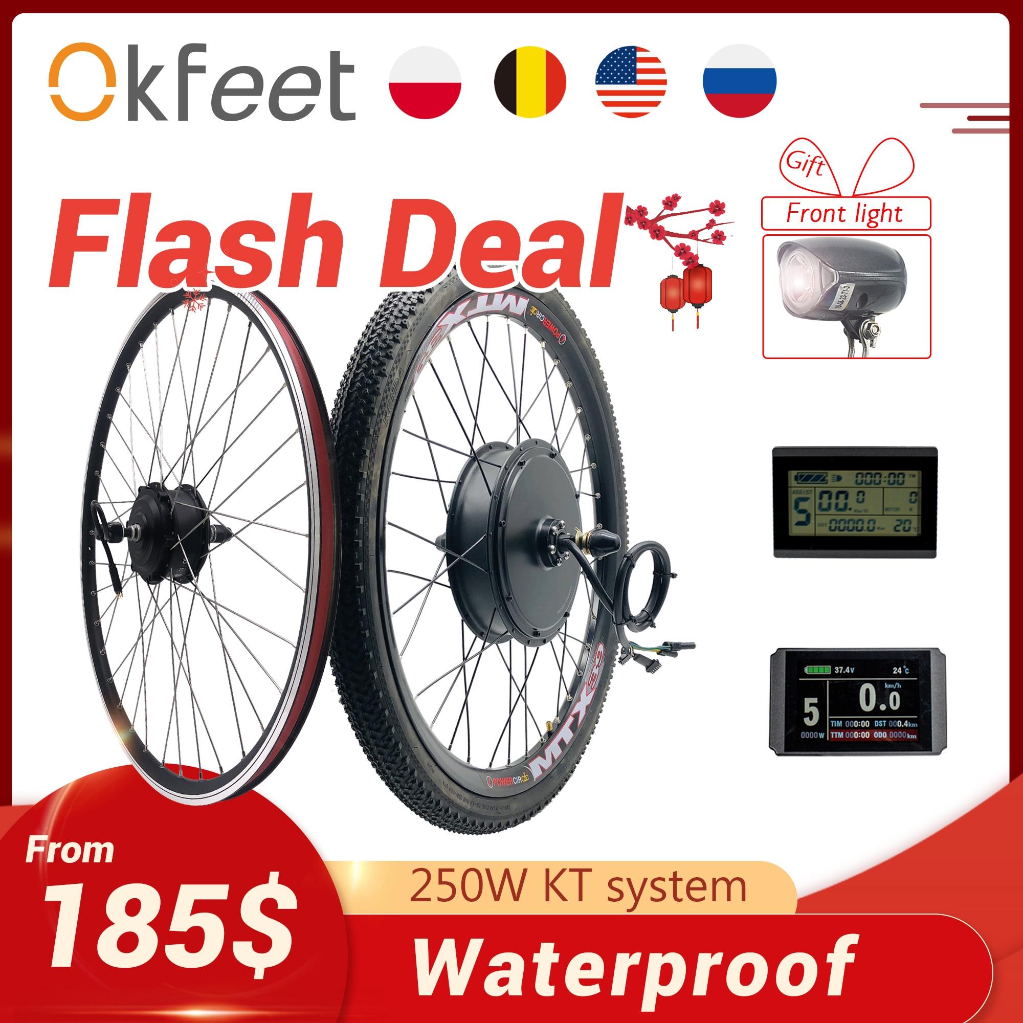 2020 eBike Conversion Kit 48V 1500W 1000W 750W 36V 500W Front Rear e-bike e Bike Wheel Hub Motor Electric Bicycle Conversion Kit