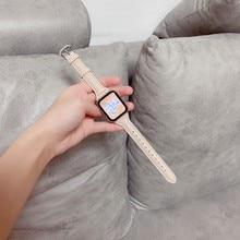 Laço de couro de alta qualidade para a série iwatch se 6 5 4 3 2 1 44mm cinta para apple assistir banda 38mm 42mm 40mm