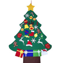 3D Felt Christmas Tree Shape Pendant with 29x Decoration Wall Window Dressing Children DIY Decor(China)