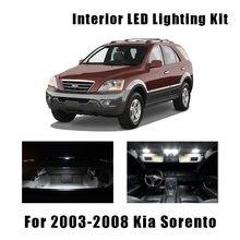 Светодиодный светильник для автомобильных дверей, 14 лампочек, белый свет для салона автомобиля, подходит для 2003-2006 2007 2008 Kia Sorento, карта, купол...