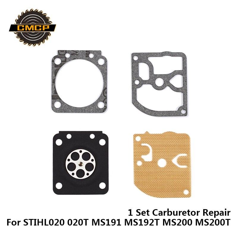 Carburetor Repair Kit Chainsaw Repair Kit Garden Tool Parts 1 Set For STIHL020 020T MS191 MS192T MS200 MS200T
