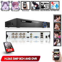 Face Detection H.265 4CH 8CH 5MP AHD DVR Hybrid Video Recorder Support 5MP 4MP 2MP AHD IP Camera CCTV Home Security System Onvif