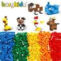 Детские Классические строительные блоки, набор городских кирпичей, игрушки для детей, развивающие объемные кирпичи, строительные блоки, ба...