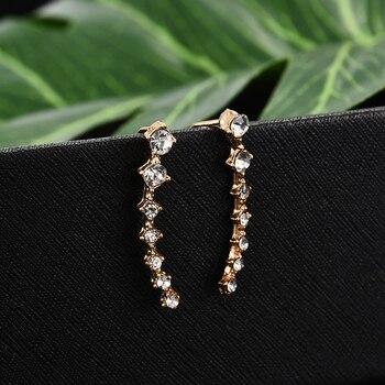 2020 NEW 1pair rhinestone ear cuff  Wrap earring gold piercing ears clips cartilage statement clip earring for women pendientes 4
