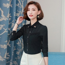 Womens Tops and Blouses Fashion Blouse Lace Hollow Shirt Female Long Sleeve Blusas 2019