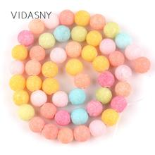 Natural Gem Dull Polished Multicolor Amazonite Round Stone Beads For Jewelry Making 6 8 10mm Loose Diy Bracelet Charms15