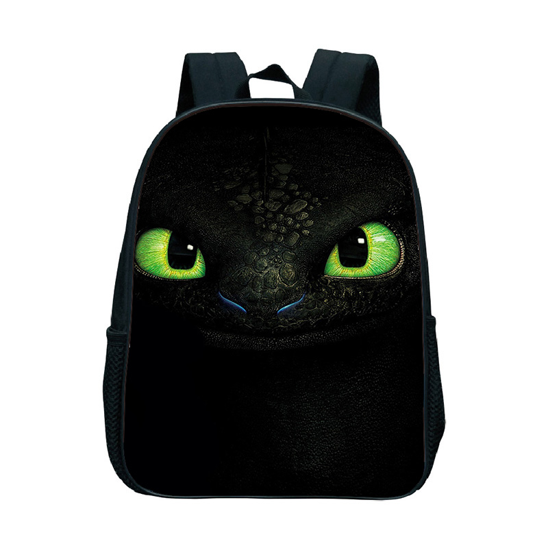 Toothless Backpack School Bag Children Kids Student Boys Girls Black Luminous