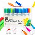 100 набор маркеров с двумя наконечниками для кисточек  гибкие насадки для кисточек и карандашей-акварельные эффекты-маркеры идеально подход...