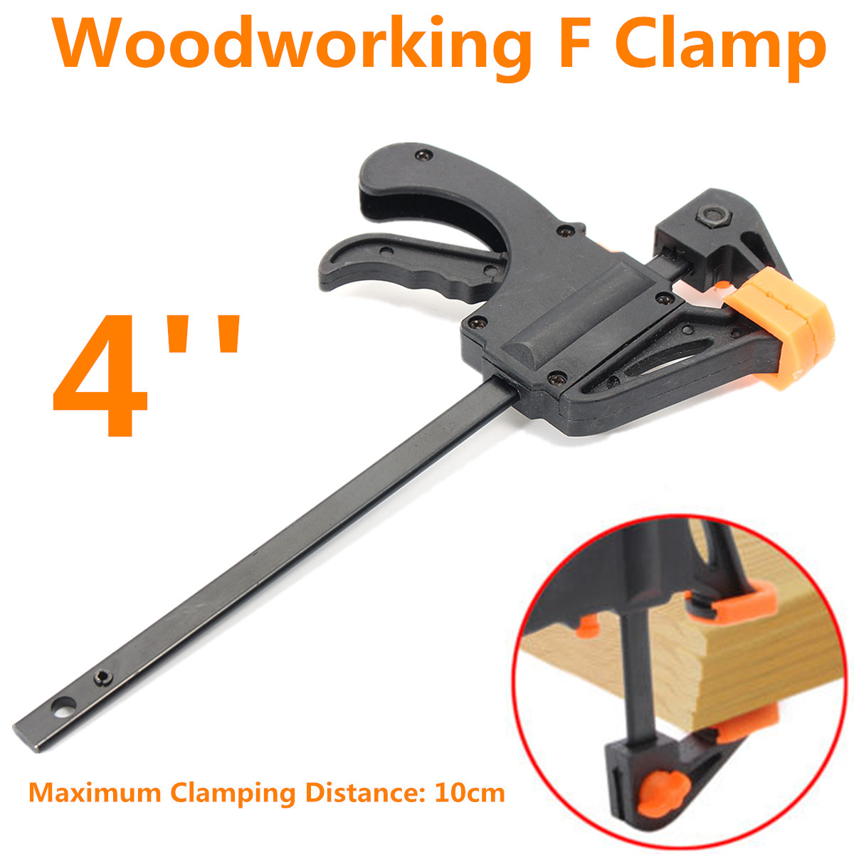 Wood Working Bar F Clamp Grip Ratchet Quick-release Squeeze DIY Tool