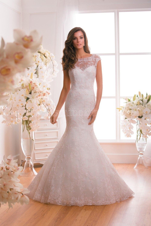 New Sexy Mermaid Wedding Dress 2015 Scoop Neck Cap Sleeve Open Back Chapel Train Lace Bridal Gown Vestido De Noiva