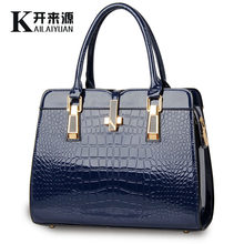 100% Genuine leather Women handbags 2019 new light leather bag female crocodile high-grade shoulder bags of western style bag(China)