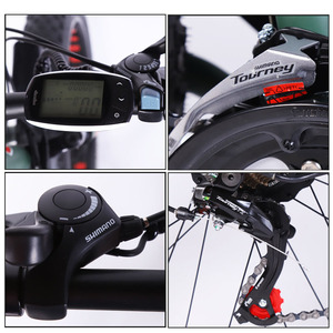 Image 4 - Electric Bike Aluminum alloy 21speed Fat Electric Bicycle 48V 500w 13AH USB 26x4.0 EBike Lithium Battery Electric Mountain Bikes