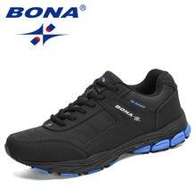 Bona 2020 новое поступление черные беговые кроссовки мужские