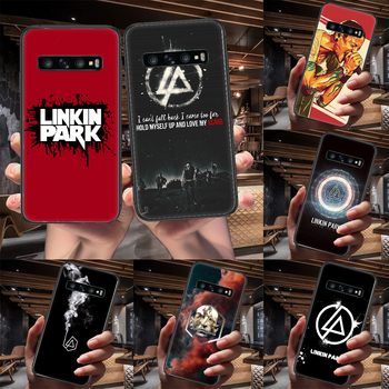 Band Linkin Rock and parks Phone Case For Samsung Galaxy Note S 8 9 10 20 Plus E Lite Uitra black Shell Fashion Hoesjes Painting image