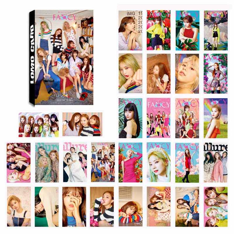 30 pz/set K-POP DUE VOLTE Album DUE VOLTE FANTASIA Self Made di Carta Carta di Lomo Photo Card HD Tesserino
