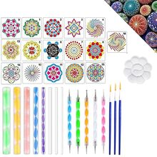 33pcs set Mandala Dotting Pen Tools Set for Painting Stone Ceramic with Stencils N1HD cheap CN(Origin) N1HD5AC202889-A