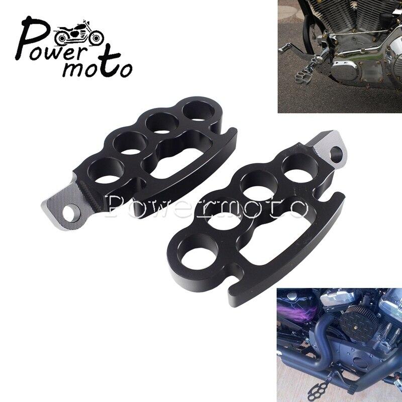 Motocicleta CNC aluminio reposapi/és Pie Clavijas de montaje en macho moto reposapi/és para Harley