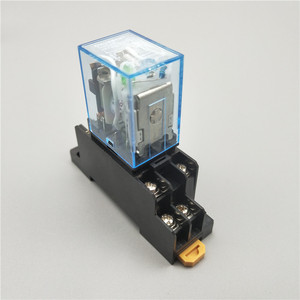 MY2P HH52P MY2NJ Relay Coil General DPDT Micro Mini Electromagnetic Relay Switch with Socket Base LED AC 110V 220V DC 12V 24V(China)