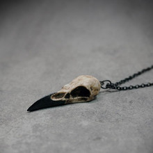 """Мини Череп ожерелье смола Реплика Ворон Magpie ворона Poe стимпанк подарок идея зомби подарок, 1,5"""""""