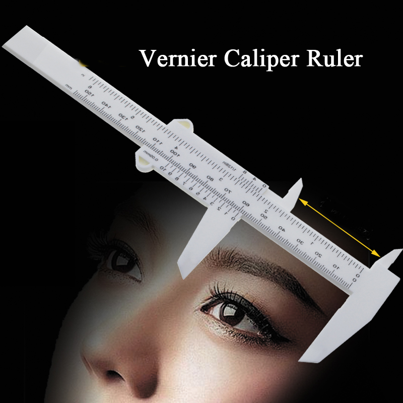 Permanent Makeup Accessories Tattoo Supply Plastic Vernier Caliper Ruler Accurate Measuring Tools For Microblading Eyebrow Lip