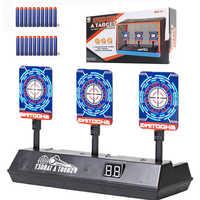 Objetivo eléctrico DIY de alta precisión para pistola Nerf, reinicio automático, accesorios, juguetes para deportes al aire libre