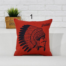Pillowcase Exotic Character Avatar Pillow Black Red Pillow British Home Decoration Pillowcase Sofa Cushion Cover