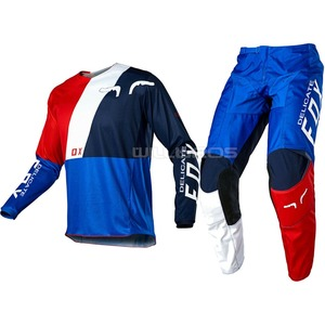 Delicate Fox MX ATV 180 LOVL SE Jersey Pant Gear Set Motorbike Scooter Riding Suit Men's Street Moto Offroad Blue White Red Kits