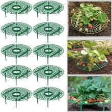 5/10 pacote de morango suporta manter a planta suporte de frutas vegetal crescente rack ferramentas de jardim para proteger videiras evitar a terra